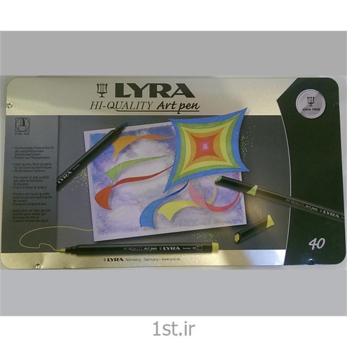 عکس ماژیک هنریماژیک 40 رنگ لیرا مدل Art Pen