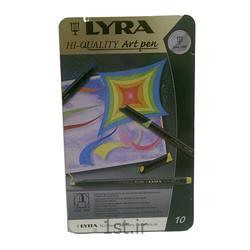 عکس ماژیک هنریماژیک 10 رنگ لیرا مدل Art Pen