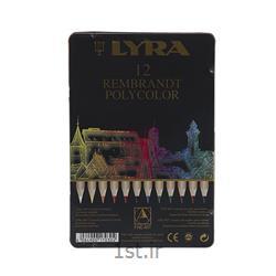 عکس مداد رنگیمداد رنگی 12 رنگ حرفه ای لیرا مدل پلی کالر