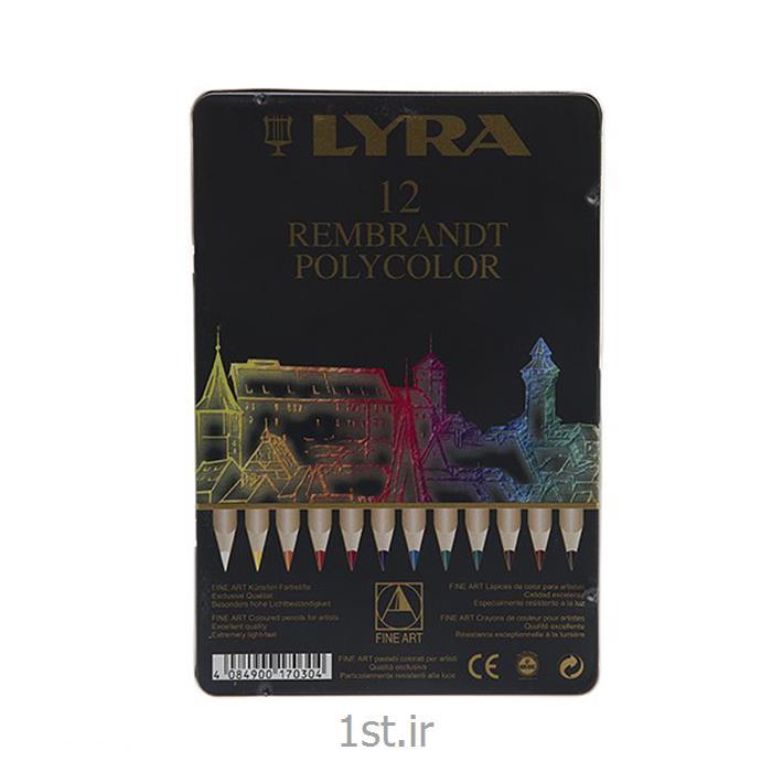 مداد رنگی 12 رنگ حرفه ای لیرا مدل پلی کالر