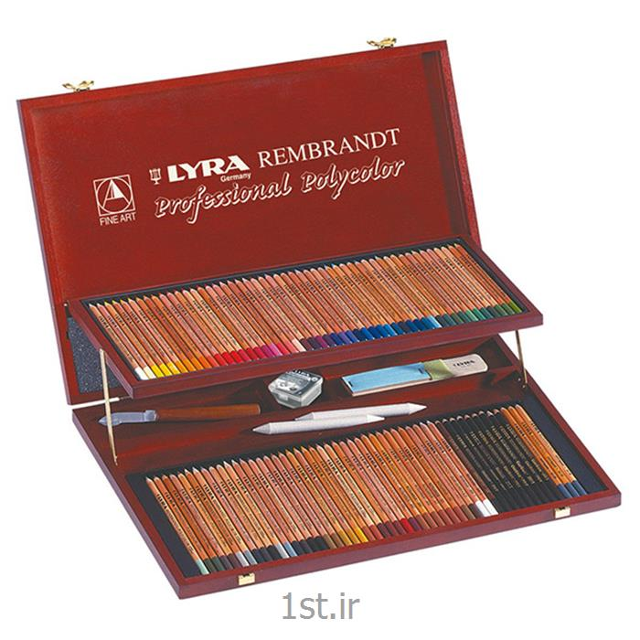 عکس مداد رنگیمداد رنگی 100 رنگ حرفه ای لیرا مدل Rembrandt Polycolor