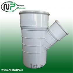 عکس PVC (پی وی سی)سه راه تبدیل پی وی سی (پلیکا) سایز 110*63*45 استاندارد نیکتاز پلیمر