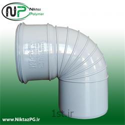 عکس PVC (پی وی سی)زانو پی وی سی (پلیکا) 90 درجه سایز 110 نیکتاز پلیمر