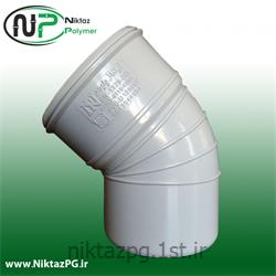 عکس PVC (پی وی سی)زانو پی وی سی (پلیکا) 45 درجه سایز 110 نیکتاز پلیمر
