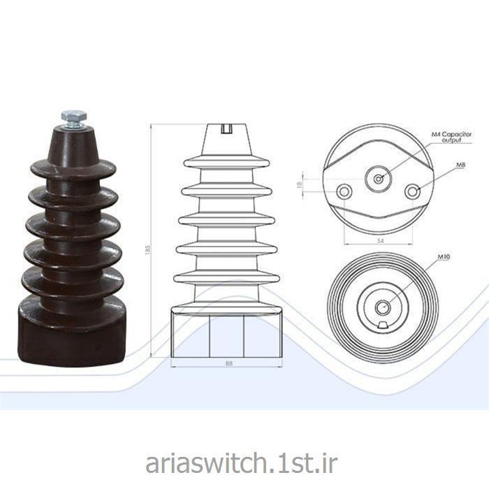 مقره خازنی همراه بانشانگر مدل اشنایدری 24 کیلو ولت 18 سانت تولیدایران