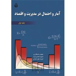 عکس کتابکتاب آمار و احتمال در مدیریت و اقتصاد جلد1 نوشته مهدی صفاری