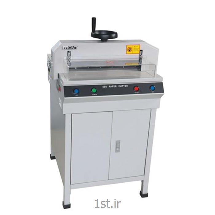 دستگاه برش کاغذ برقی با تنگ و گونیا دستی مدل cutter 450d
