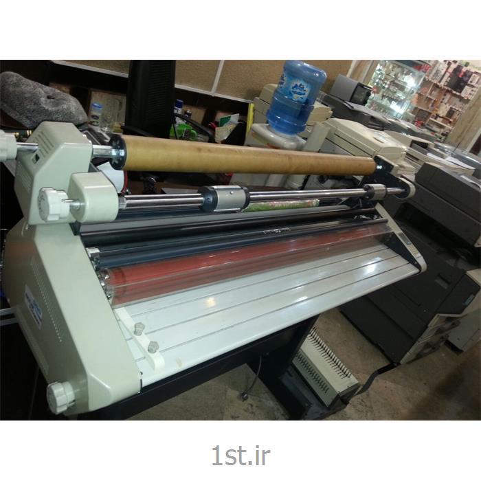 عکس دستگاه لمینیتور ( پرس کاغذ )دستگاه لمینیت سرد و گرم عرض 104 سانت کره ای