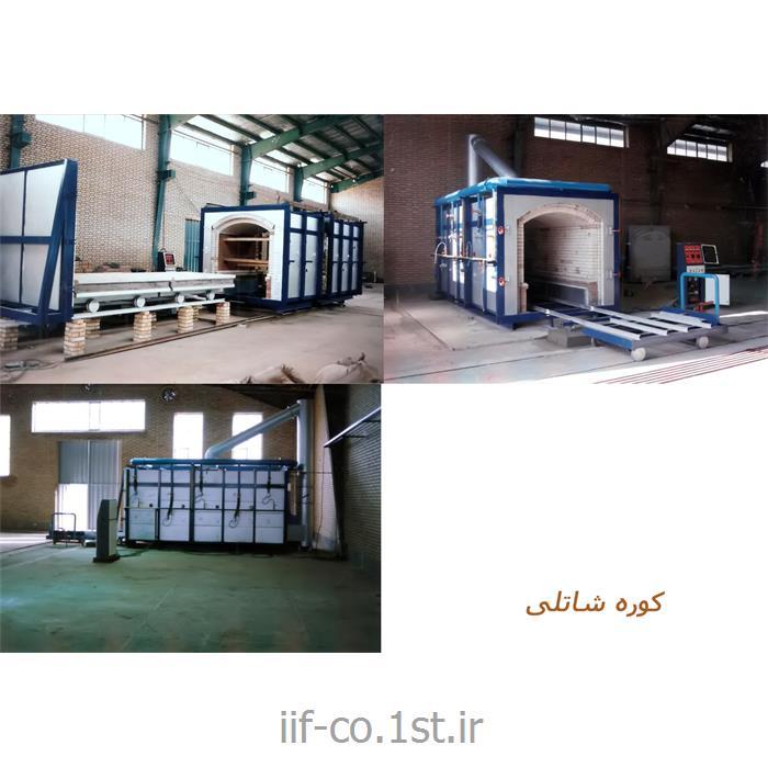 عکس کوره های صنعتیدستگاه کوره شاتل 001 Shuttle furnace machine