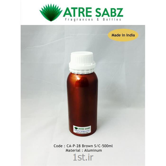 عکس قوطیقوطی آلومینیومی قهوه ای 500 میل هندی (Alu essential oil bottle)