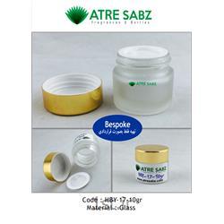 عکس ظرف شیشه ای یا سفالیجار کرم شیشه 10 گرمی کد HBY-17-10gr