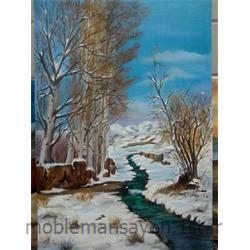 تابلو نقاشی  رنگ و روغن زمستان