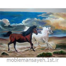 عکس لوازم جانبی مبلمانتابلو نقاشی رنگ و روغن اسب