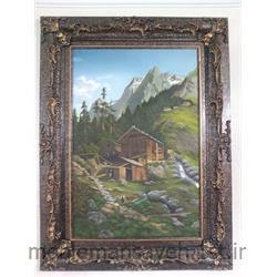 تابلو نقاشی  رنگ و روغن کوهستان