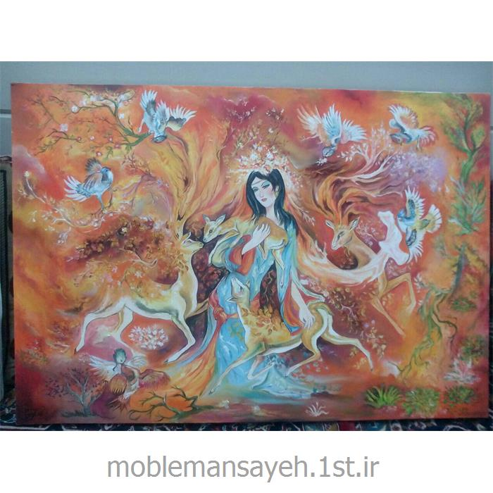 عکس لوازم جانبی مبلمانتابلو نقاشی رنگ و روغن گرمای عشق