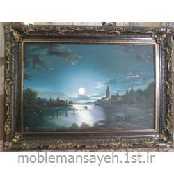 تابلو نقاشی رنگ و روغن  ماه شب 14