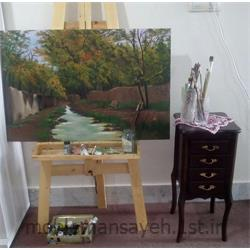 عکس لوازم جانبی مبلمانتابلو نقاشی رنگ و روغن کوچه باغ