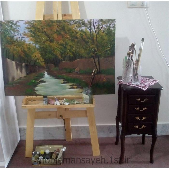 تابلو نقاشی رنگ و روغن کوچه باغ