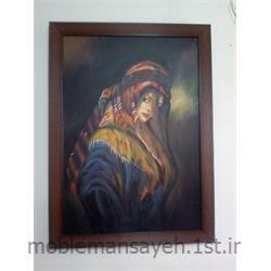 عکس لوازم جانبی مبلمانتابلو نقاشی رنگ و روغن دختر عشایر