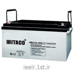 عکس باتری (باطری) خشکباتری 12 ولت 150 آمپر ساعت هیتاکو