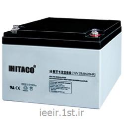 عکس باتری (باطری) خشکباتری 12 ولت 28 آمپر ساعت هیتاکو  Hitaco Battery