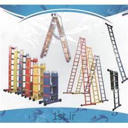 نردبان آلومینیومی 18 پله 3 تکه کشویی افرا
