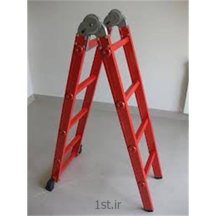 نردبان تاشو دو تکه 16 پله اسانکار