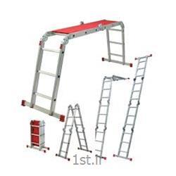 نردبان آلومینیومی تاشو چهار تکه  24 پله آسانکار