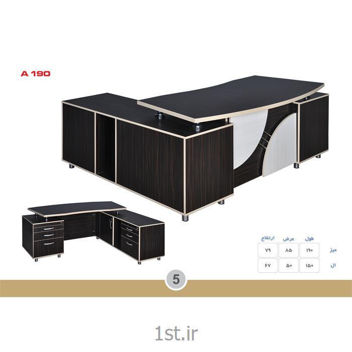 میز مدیریت ملامینه الدارصفحه پروفیلی مدل A190 MDF وحدت