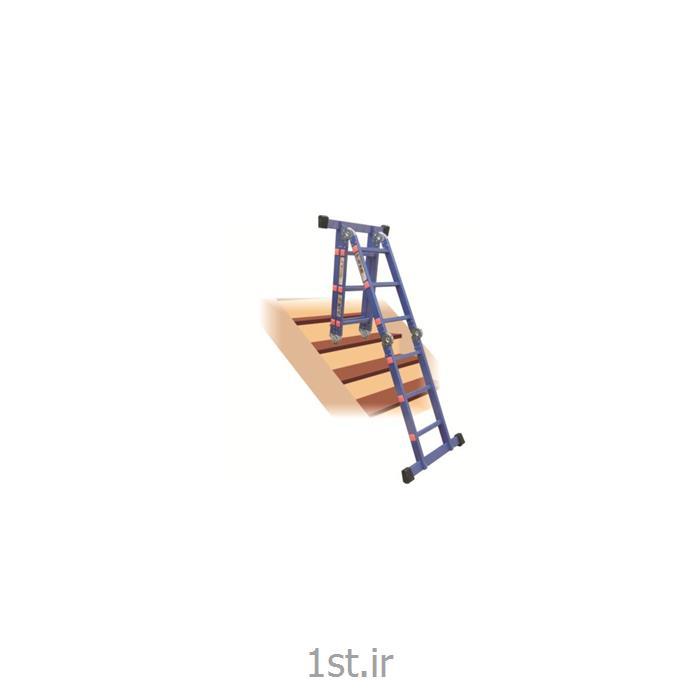 نردبان آلومنیومی تاشو چهار تکه 12 پله آسانکار