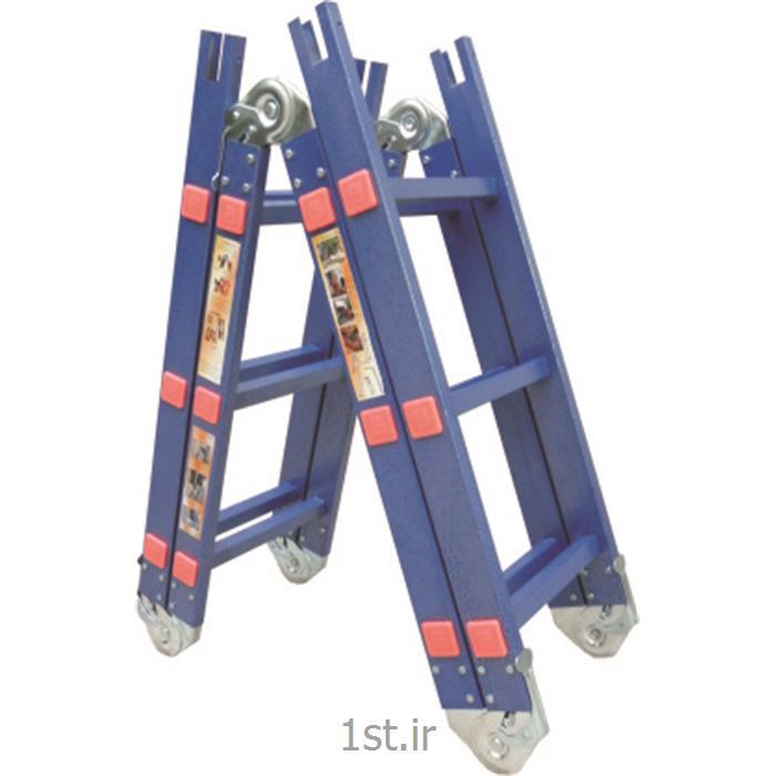 نردبان آلومینیومی تاشو چهار تکه آسان کار<