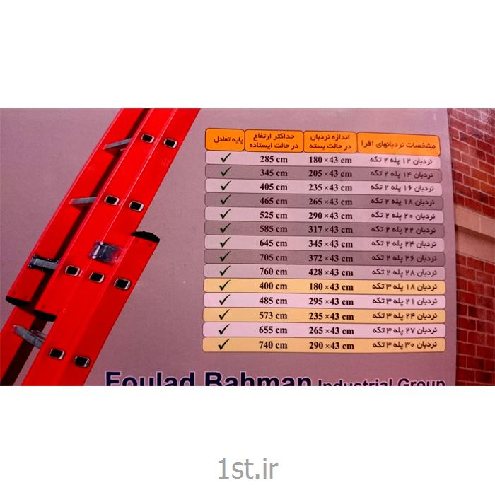 نردبان آلومینیومی 24 پله 3 تکه کشویی افرا