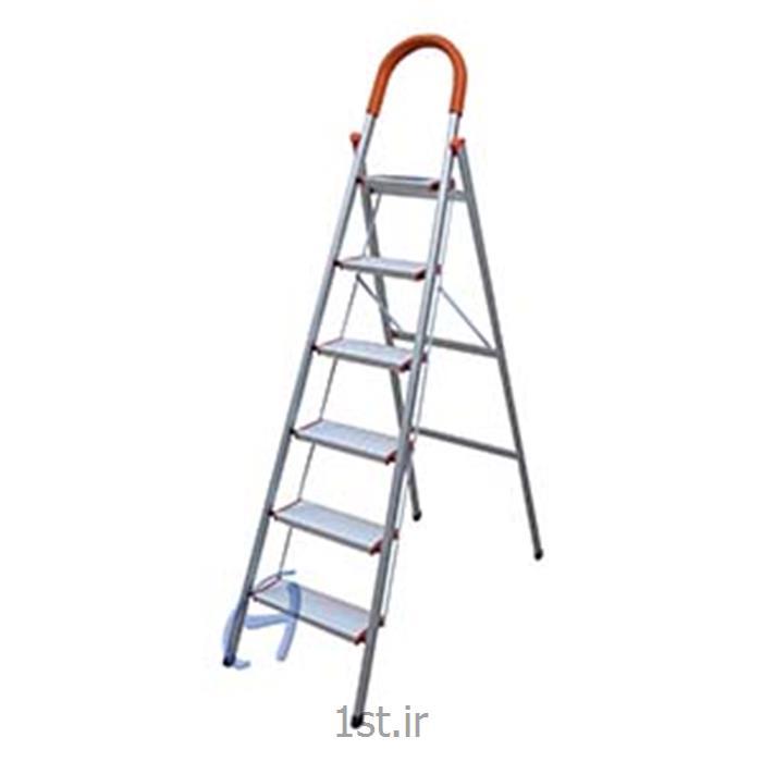 نردبان شش پله تاشو آلومینیومی پارتیان ساخت ایران