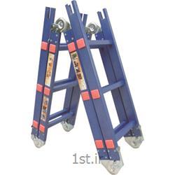 نردبان آلومینیومی تاشو چهار تکه 16 پله آسانکار