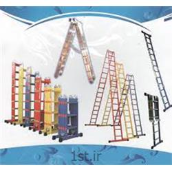 نردبان آلومینیومی صنعتی پلکانی (پله ای) تاشو اسانکار