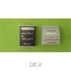 عکس صندوق پستی (جعبه نامه)صندوق پیشنهادات فلزی وحدت
