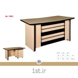 عکس میز اداریمیز مدیریت ملامینه الدارصفحه پروفیلی مدل AL150 MDF وحدت