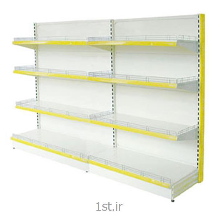 قفسه فلزی فروشگاهی سوپری با رنگ استاتیک