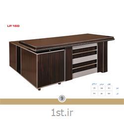 عکس میز اداریمیز مدیریت ملامینه الدارصفحه پروفیلی مدل LP160 MDF وحدت