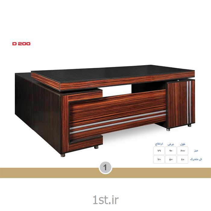 میز مدیریت ملامینه الدارصفحه پروفیلی مدل D200 MDF وحدت