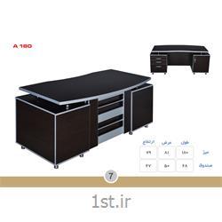 میز مدیریت ملامینه الدارصفحه پروفیلی مدل A180 MDF وحدت