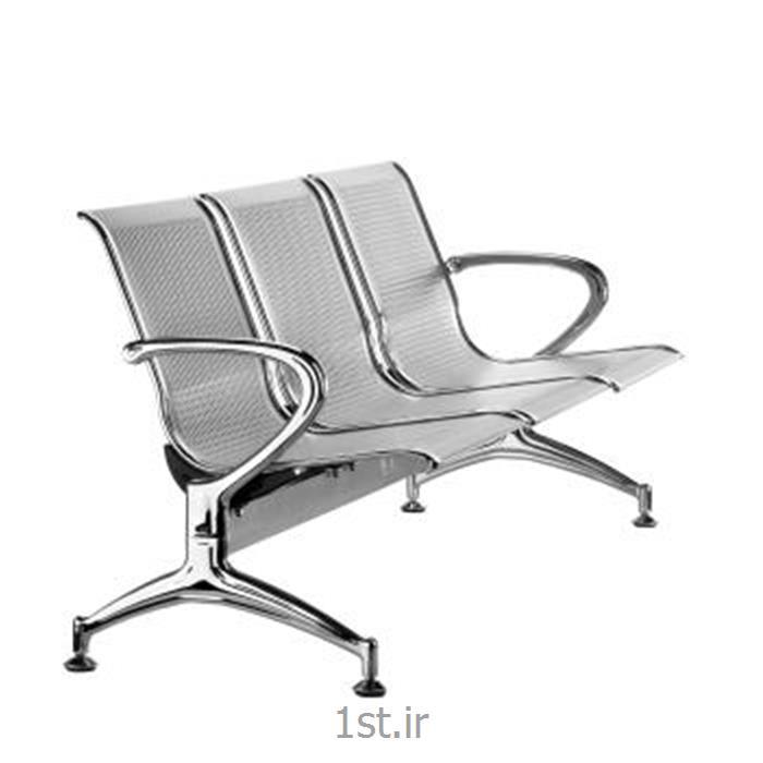 عکس صندلی انتظارنیمکت انتظار فلزی پانچ سه نفره مدل H153