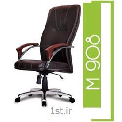 صندلی گردان مدیریتی چرم مصنوعی A M 908