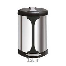 عکس سطل زباله (سطل آشغال)سطل زباله استیل زیر سیگاری دار