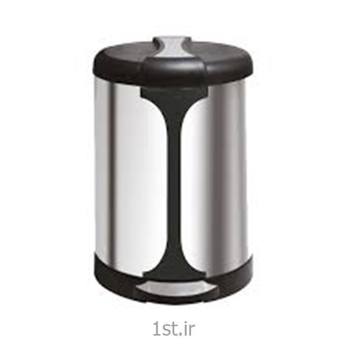 سطل زباله استیل زیر سیگاری دار<