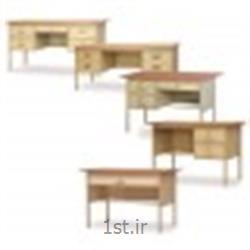 میز فلزی رویه چوب وحدت