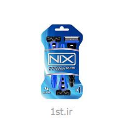 عکس تیغ اصلاحخودتراش 4 تیغه نیکس NIX مدل تریم کواد بسته 3 عددی