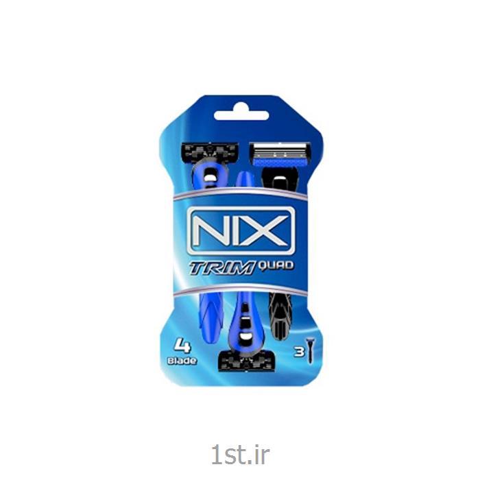 خودتراش 4 تیغه نیکس NIX مدل تریم کواد بسته 3 عددی