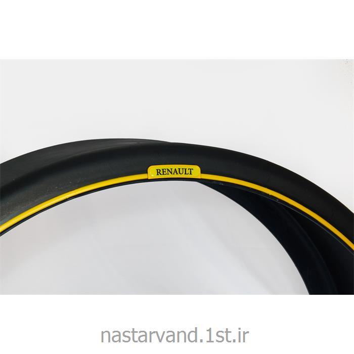 عکس قطعات تریلرگلگیر تک چرخ تریلر دور زرد با لوگو