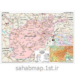 عکس نقشهنقشه سیاسی و طبیعی افغانستان